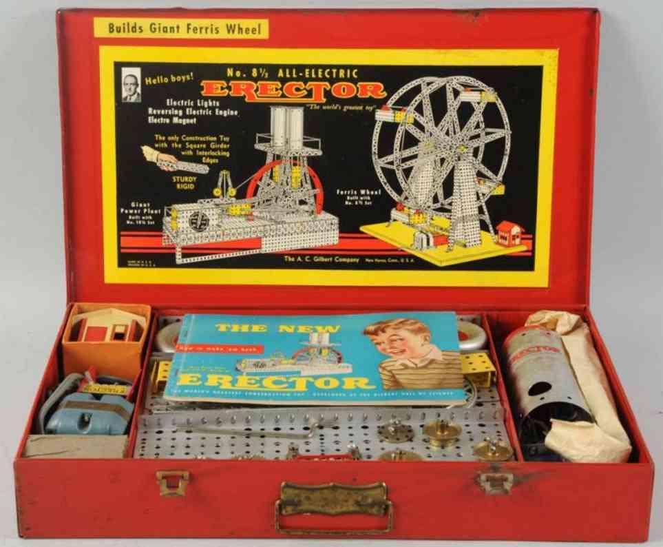 gilbert 8 1/2 metal kit ferris wheel erector set
