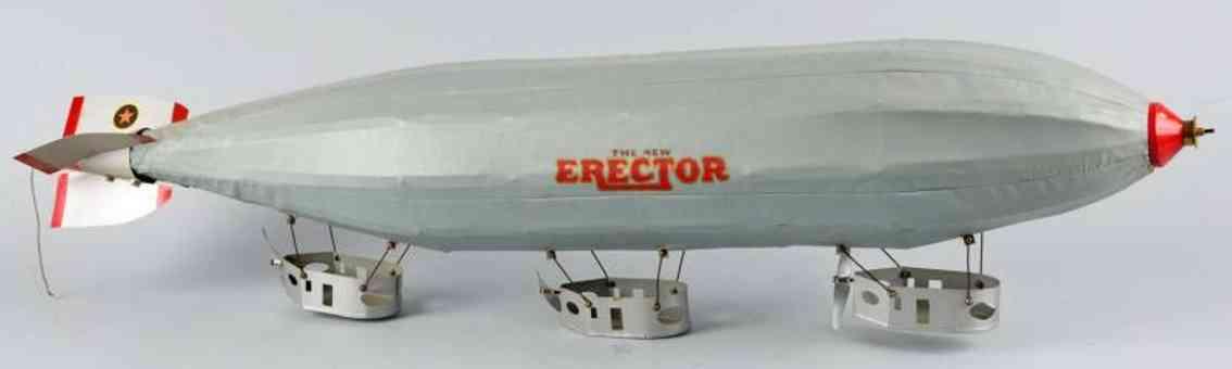gilbert metall baukasten erector zeppelin