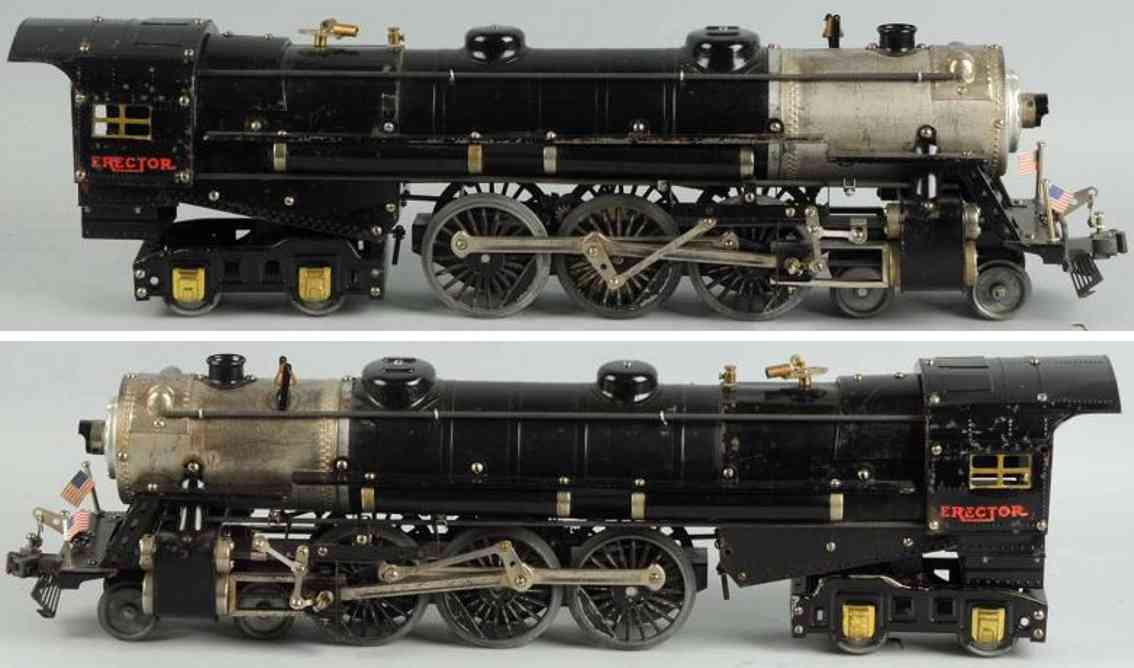 gilbert 8 metal kit train engine erector