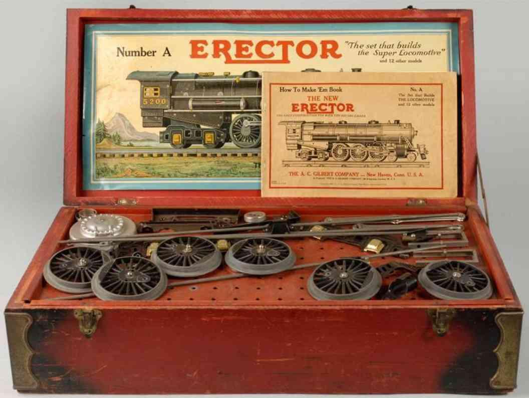 gilbert a metall erector baukasten-lokomotive