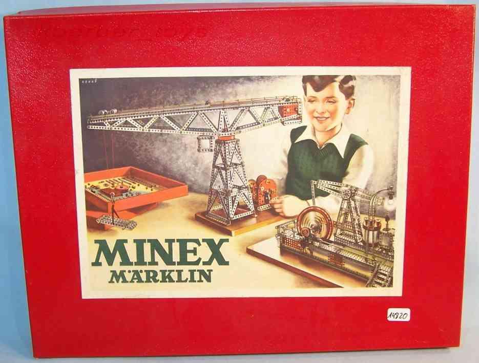 maerklin 01 metall baukasten minex in silber und rot