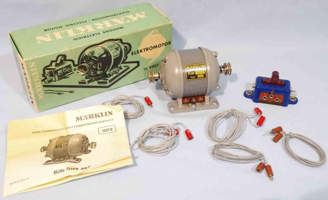 maerklin 1072 metall baukasten 16 volt baukasten-elektromotor