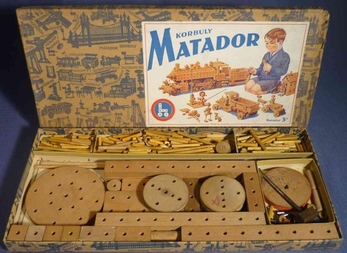 matador 3 A holz spielzeug holzbaukasten korboly