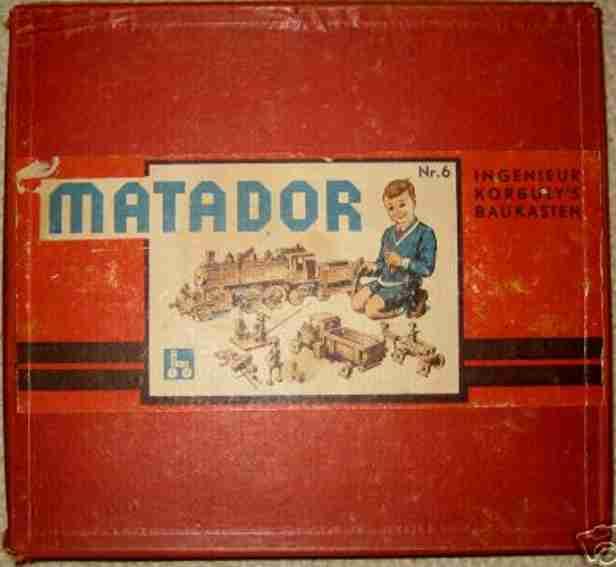 matador 6 wooden toy kit timber construction box