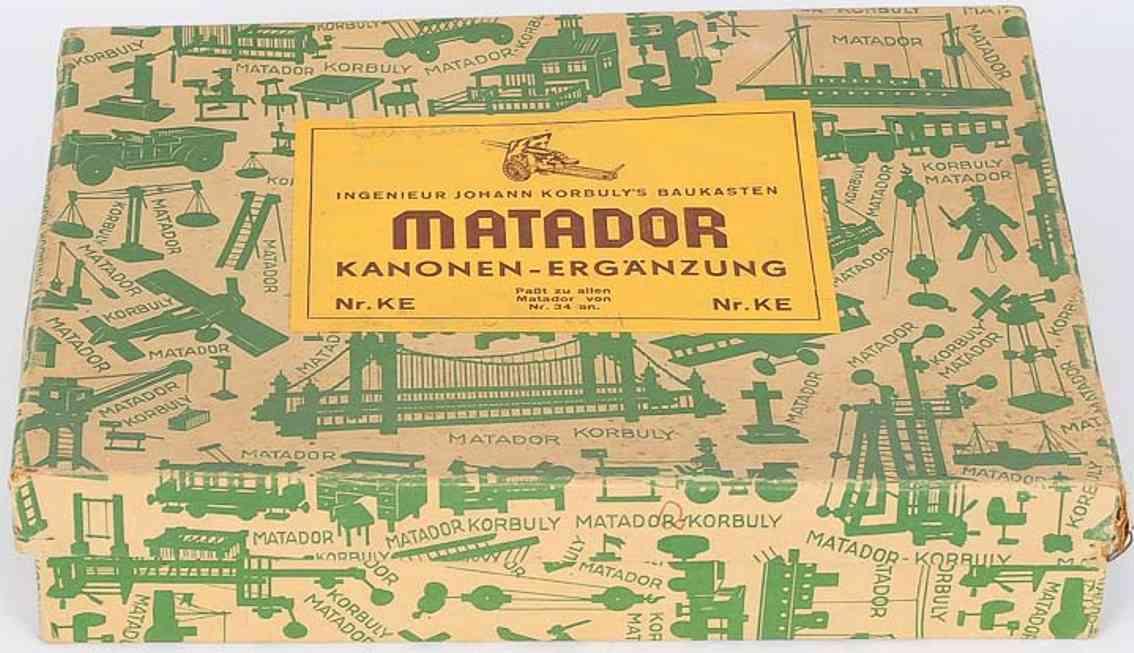 matador ke spielzeug baukasten korbuly kanonen-erganzungs-holzbaukasten