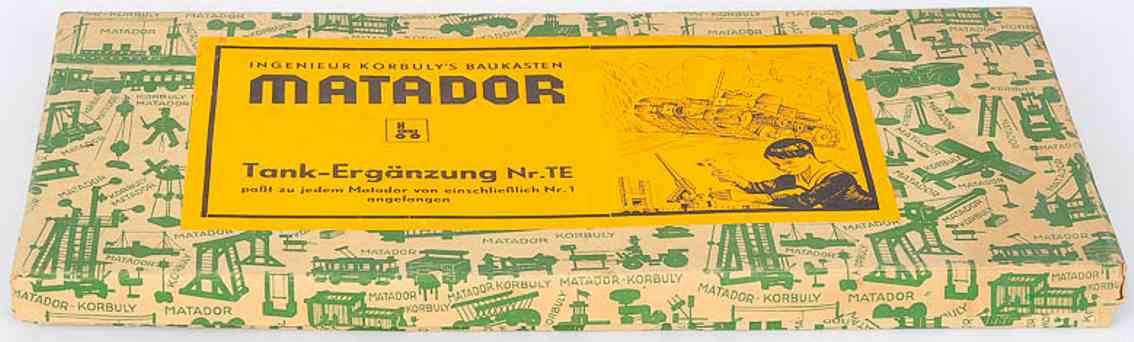 matador TE spielzeug korbuly tank erganzungs-holzbaukasten