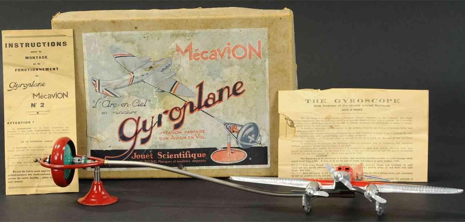 mecavion jouet scientifique blech spielzeug baukastenflieger scientific gyroplane