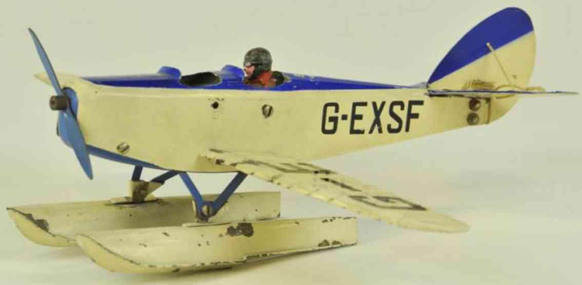 meccano erector 0 blech spielzeug baukastenflieger wasserflugzeug