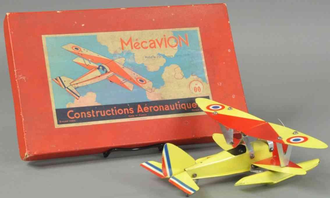 meccano erector 00 blech spielzeug baukastenflieger mecavion baukasten set