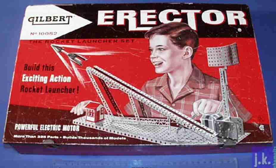 meccano erector 10052 metall baukasten raketenabschussset mit motor