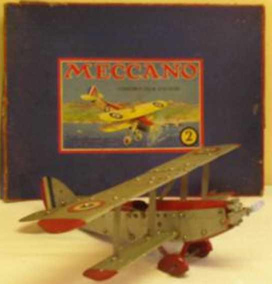meccano erector 2 blech spielzeug baukastenflieger