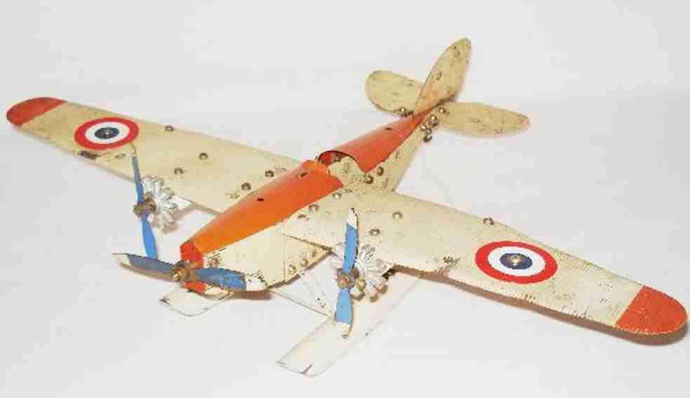 meccano erector blech spielzeug baukastenflieger frankreich