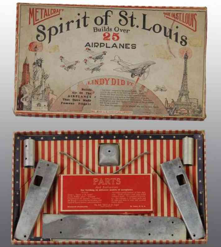 metalcraft corp st louis 810 metal kit spirit of st. louis set. builds over 25 different airplane m