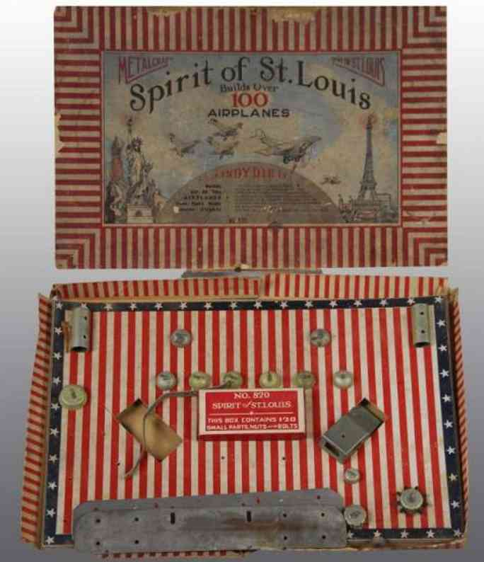 metalcraft corp st louis 820 metal kit spirit of st. louis set. includes original box with insert a