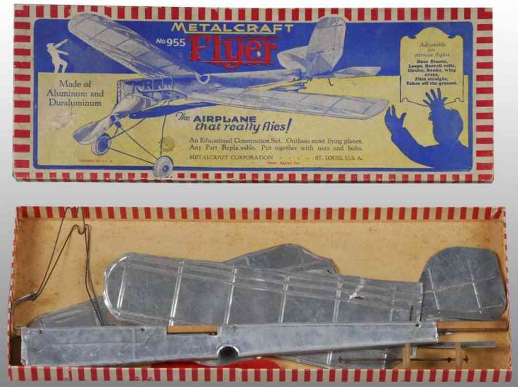 metalcraft corp st louis 955 metal kit flyer airplane set made from aluminum and duraluminum rather