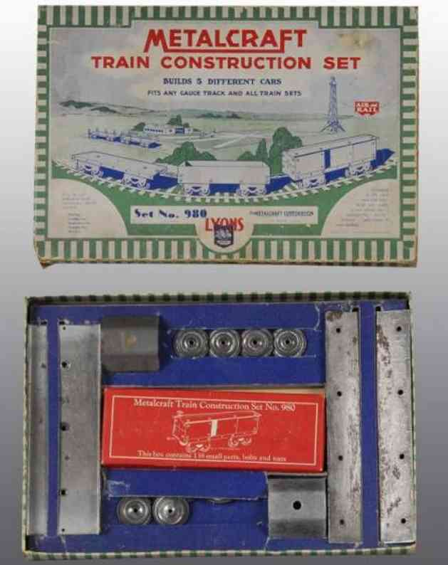 metalcraft corp st louis 980 metal kit train construction set