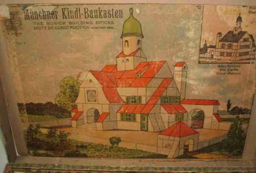Muenchner Kindl Holzbaustein-Kasten