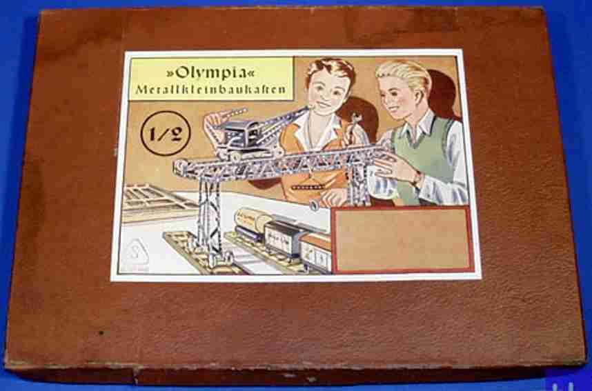 olympia 1/2 metall baukasten metallbaukasten nr. 1/2, 7 mm-lochraster, es handelt sich um