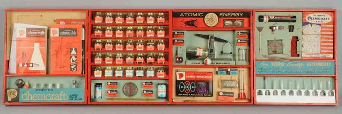 the porter chemical company 635 toy chemcraft atomic energy lab set