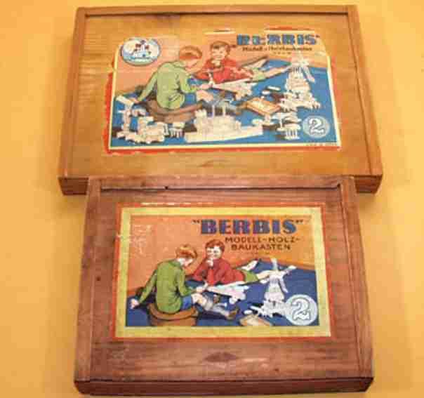 reuter blumenau 2 holz spielzeug baukasten berbis-modell-baukasten mit 10-seitigem vorlagenheft mit 40