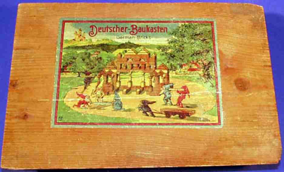 reuter blumenau 217/26 holz spielzeug baukasten baukasten 11 x 8 cm steine, zweilagig, bausteine aus gedämpf