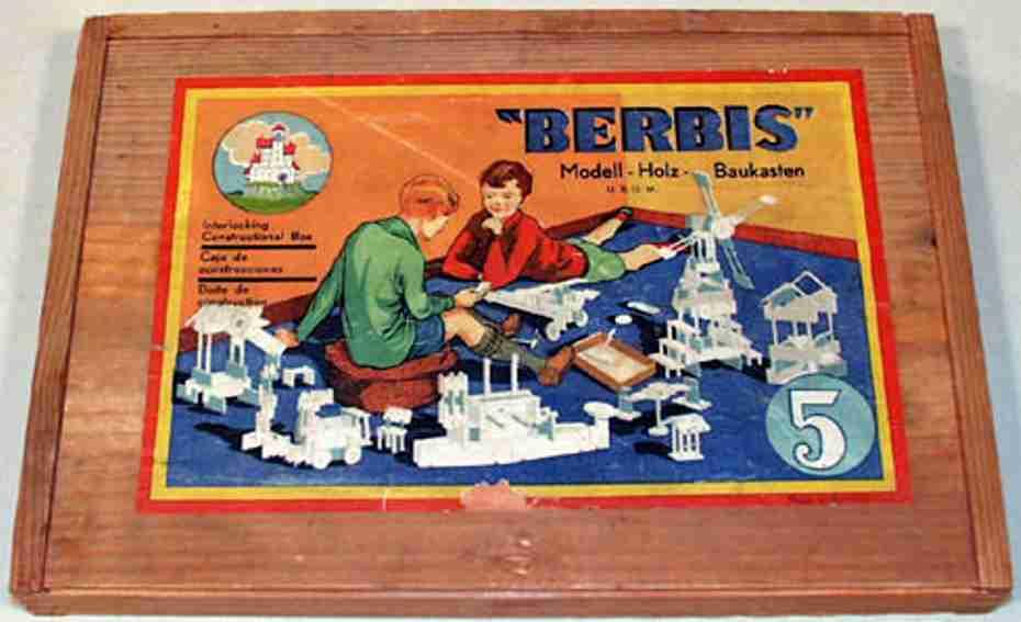 reuter blumenau holz spielzeug baukasten berbis-modell-baukasten nr. 5 mit 107 bausteinen wurde in 2