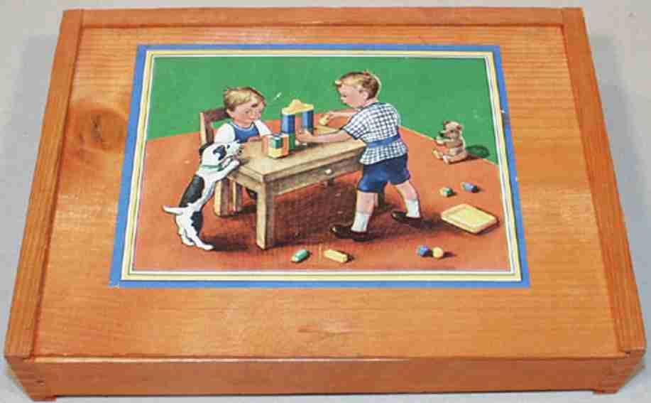 reuter blumenau holz spielzeug baukasten fassadenbaukasten, 13 x 8 stein, 1-lagig, als messe- oder ve