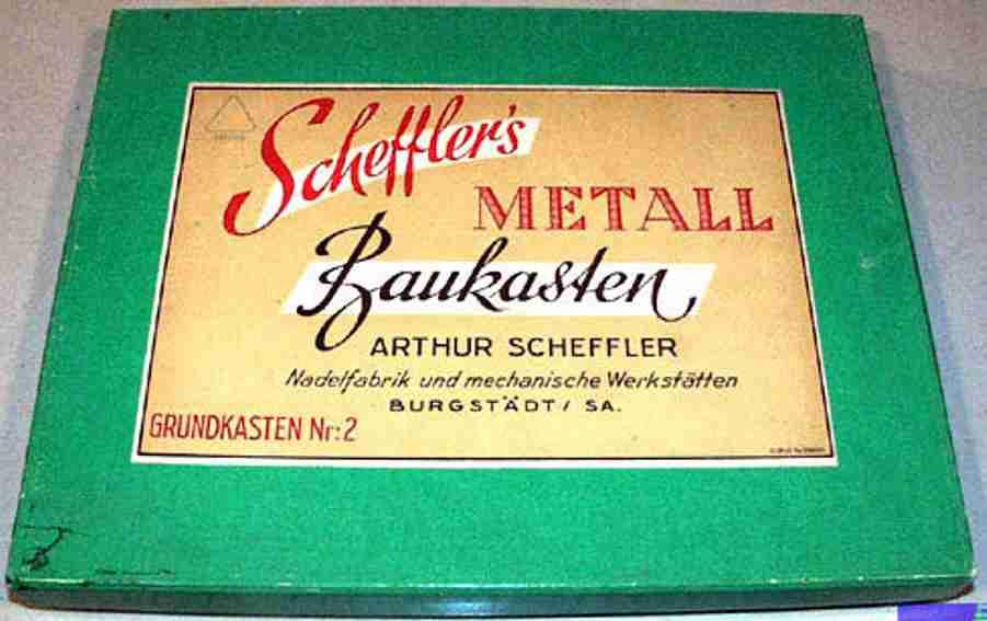 scheffler/burgstaedter 2 metall baukasten grundkasten nr. 2, 14-seitiges anleitungsheft (19 x 15 cm mi