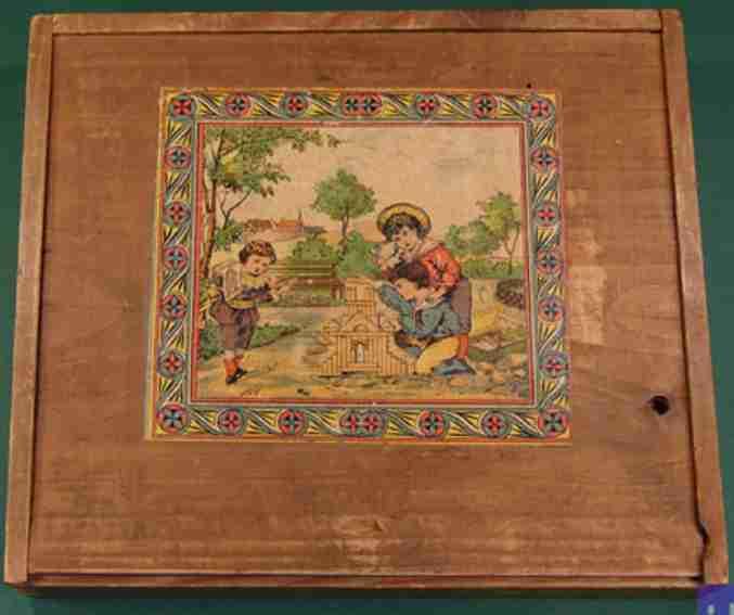 unknown holz spielzeug baukasten fensterbaukasten aus weichholz- und buchenholzbausteinen mit