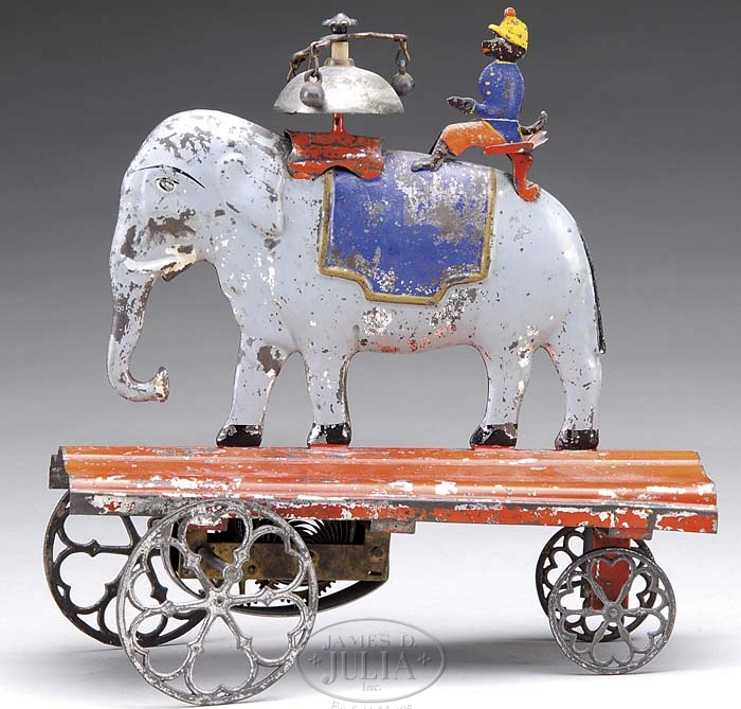 althof bergmann & co blech spielzeug afrikanischer elefant affe glocke uhrwerk