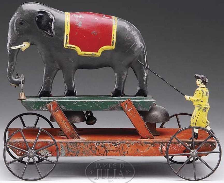 althof bergmann & co blech elefant trainer platform glockenspielzeug