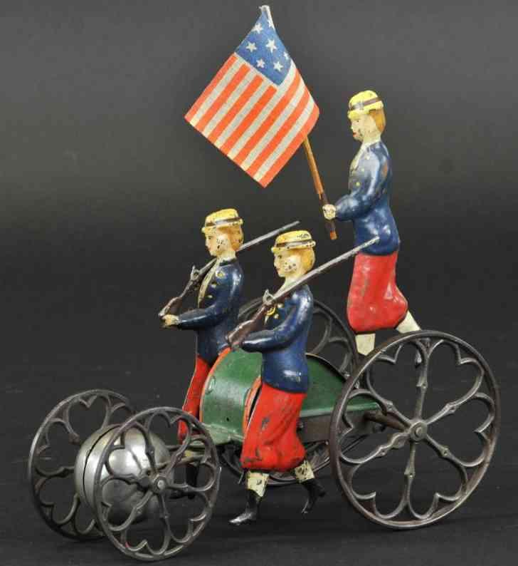 bergmann althof tin clockwork patriotic bell toy