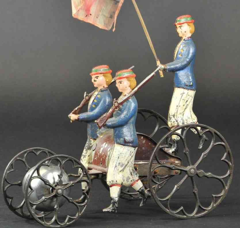 althof bergmann & co b blech patriotisches marsch-glockenspielzeug drei frauen