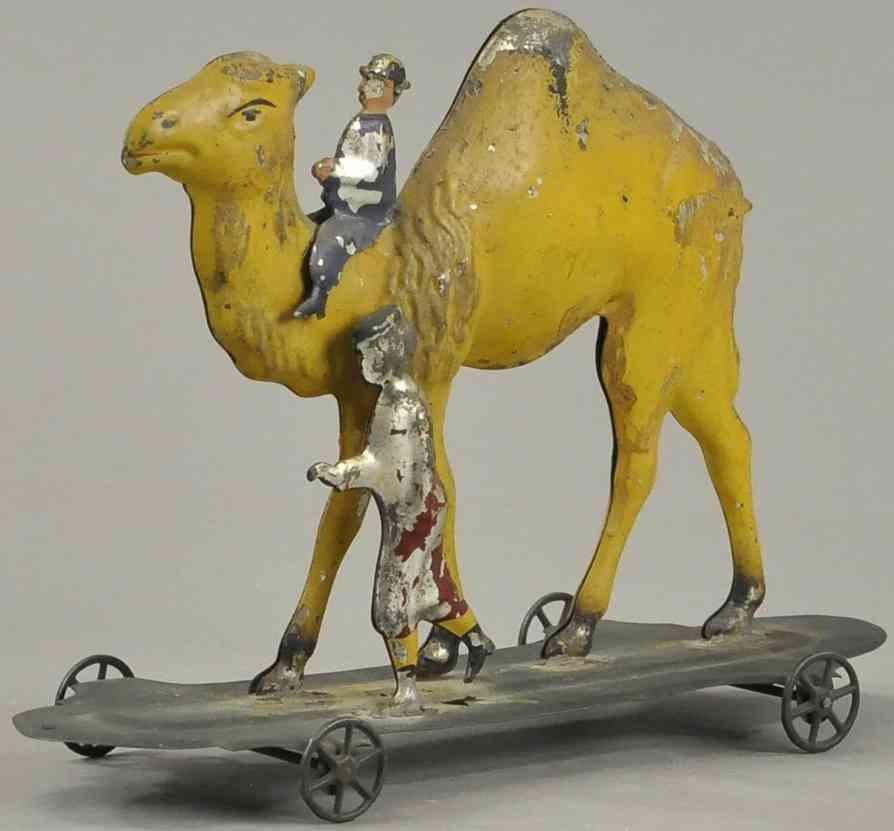 althof bergmann & co blech spielzeug gehender kameltrainer zwei figuren