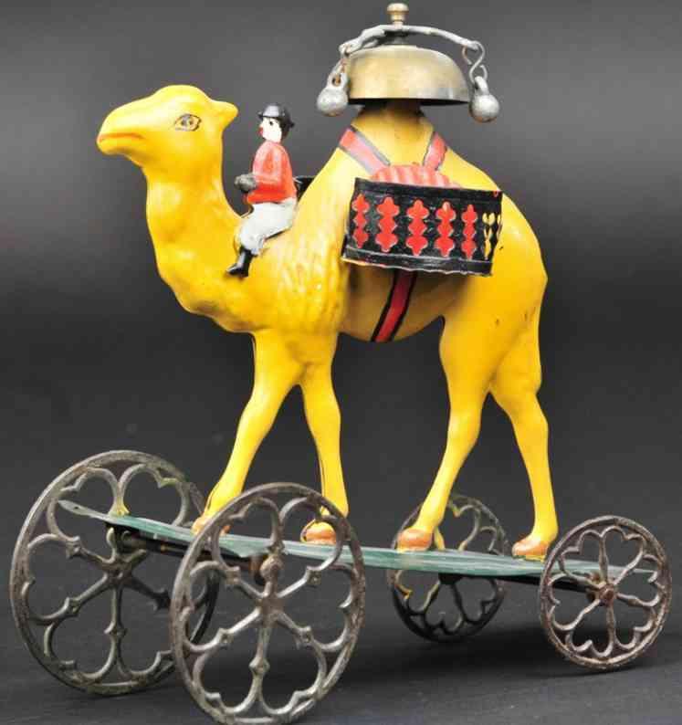 bergmann althof blech kamel mir reiter als glockenspielzeug