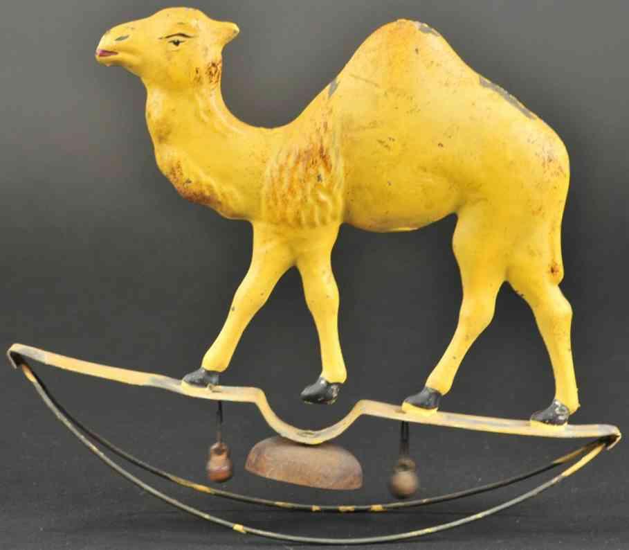 bergmann althof blech spielzeug kamel auf wippe braun