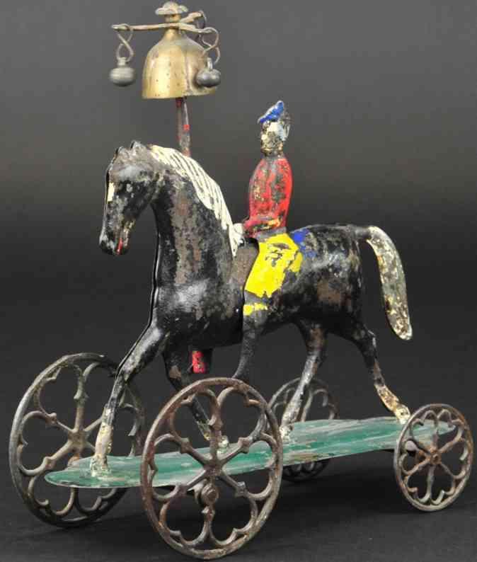 althof bergmann & co blech pferd mit reiter als glockenspielzeug