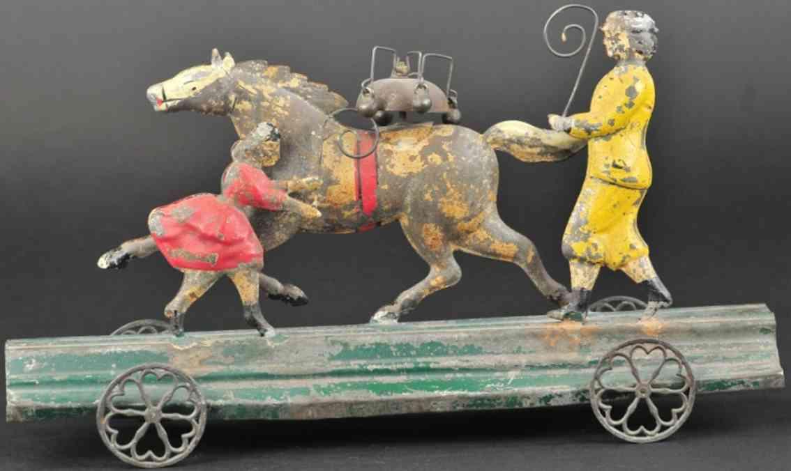 bergmann althof blech spielzeug pferdetrainer maedchen als glockenspielzeug