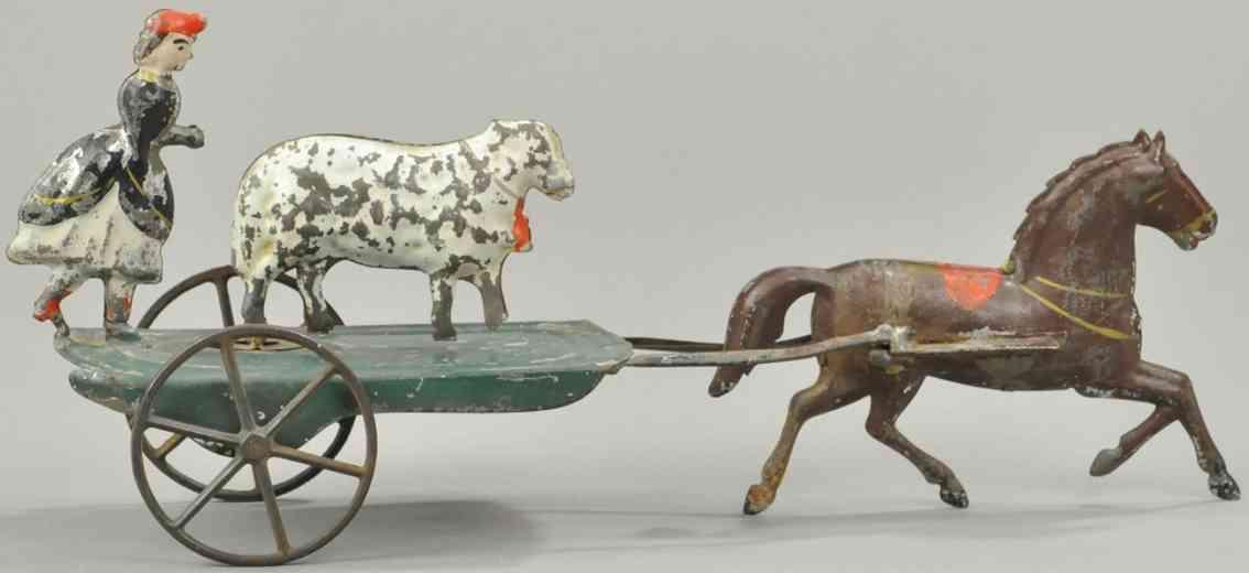 althof bergmann & co blech spielzeug maira und lamm ein pferd