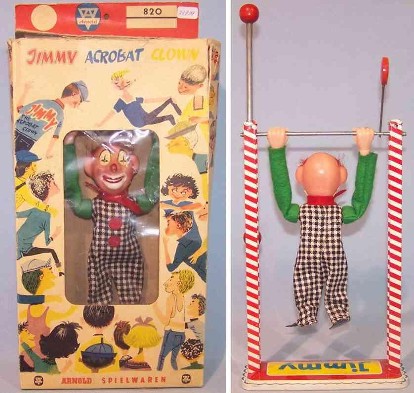 arnold 820 tin toy jimmy acrobat clown