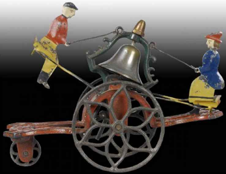 Bell Toy 24 Cast Iron and Tin Gong Bell