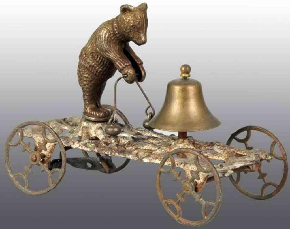 Bell Toy bear on plaform