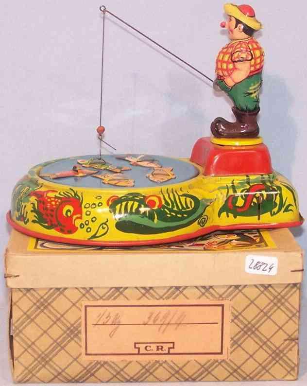 berkenkamp & schleuter tin toy fishing game