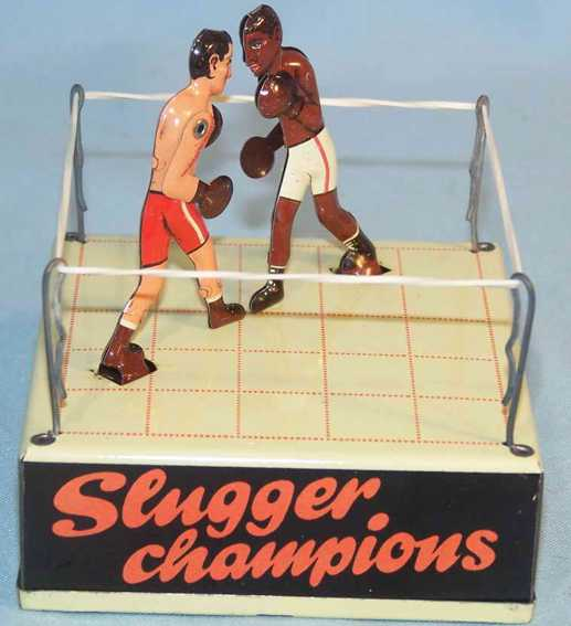 biller tin toy boxing ring slugger champions clockwork louis schmeling