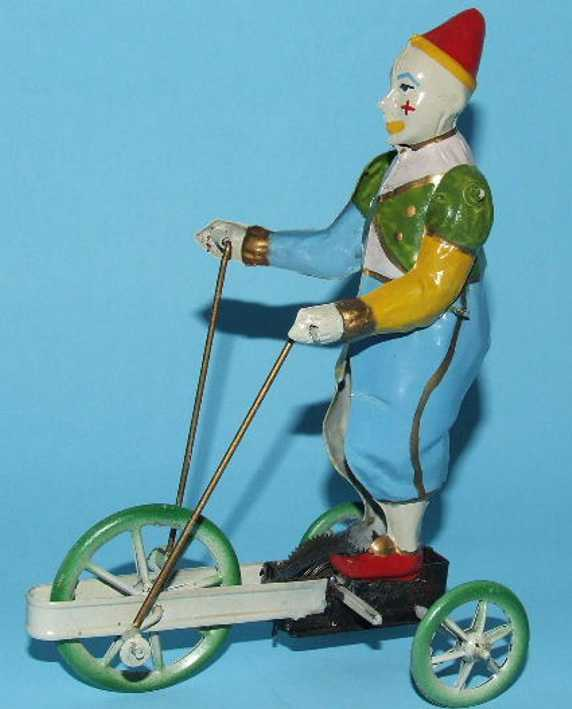 Bing Circus Clown Riding Tricycle Cart
