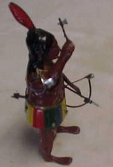 Bing Indianer mit Uhrwerk