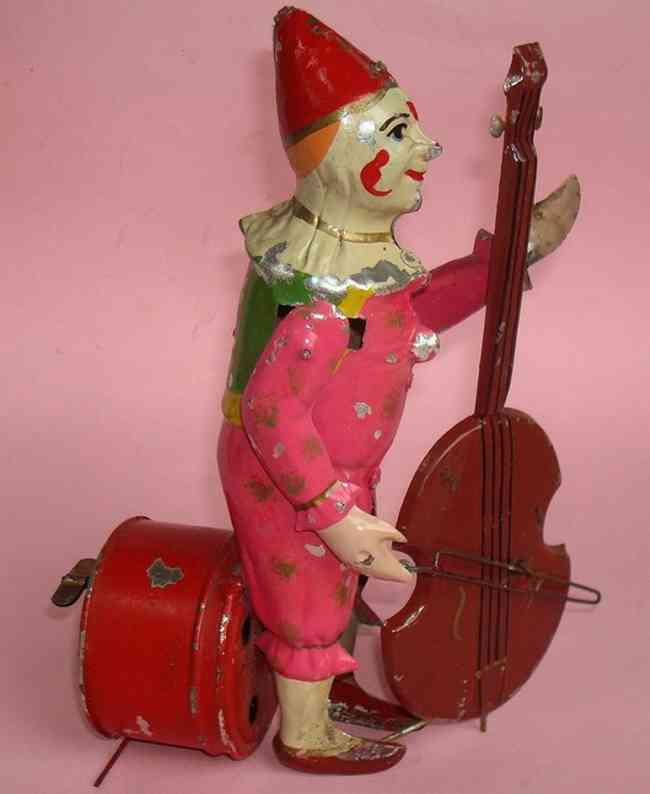 Bing Music clown with bass wind-up toy
