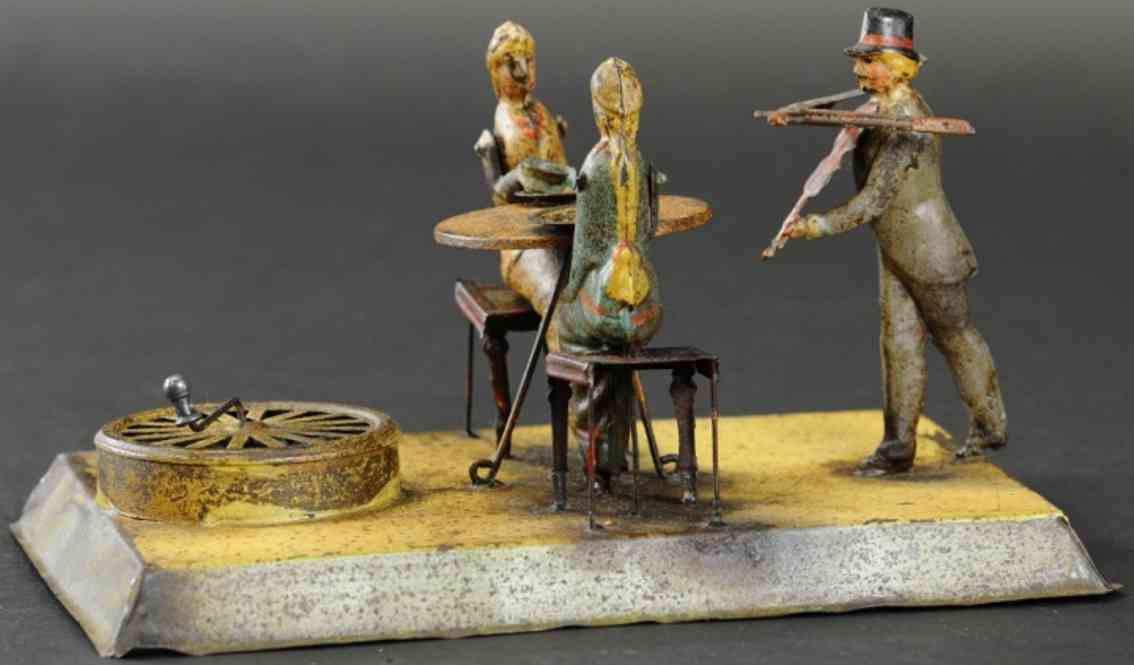 bing blech spielzeug zwei damen trinken tee violinspieler