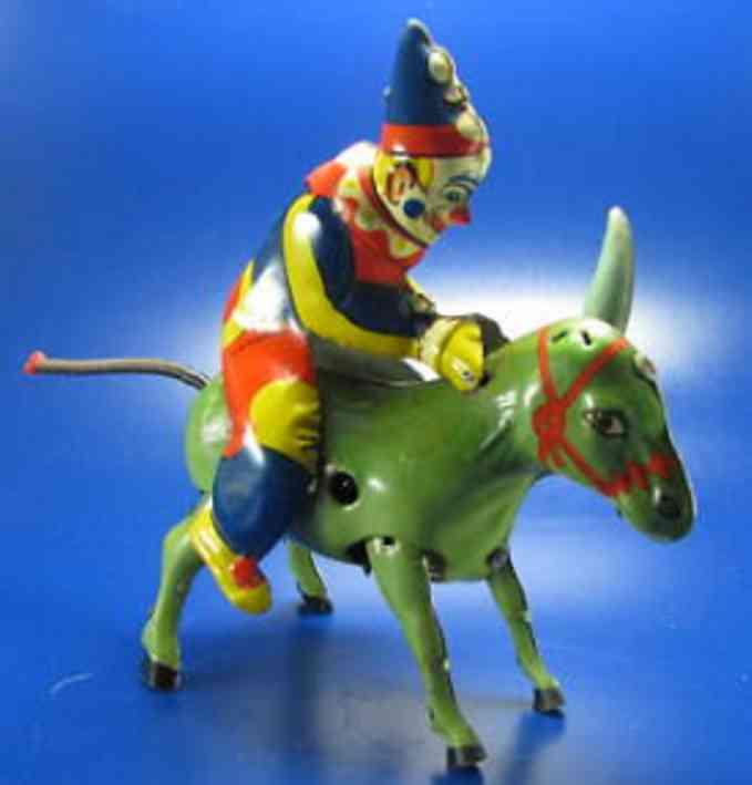 blomer & schueler 215 blech clown esel uhrwerk