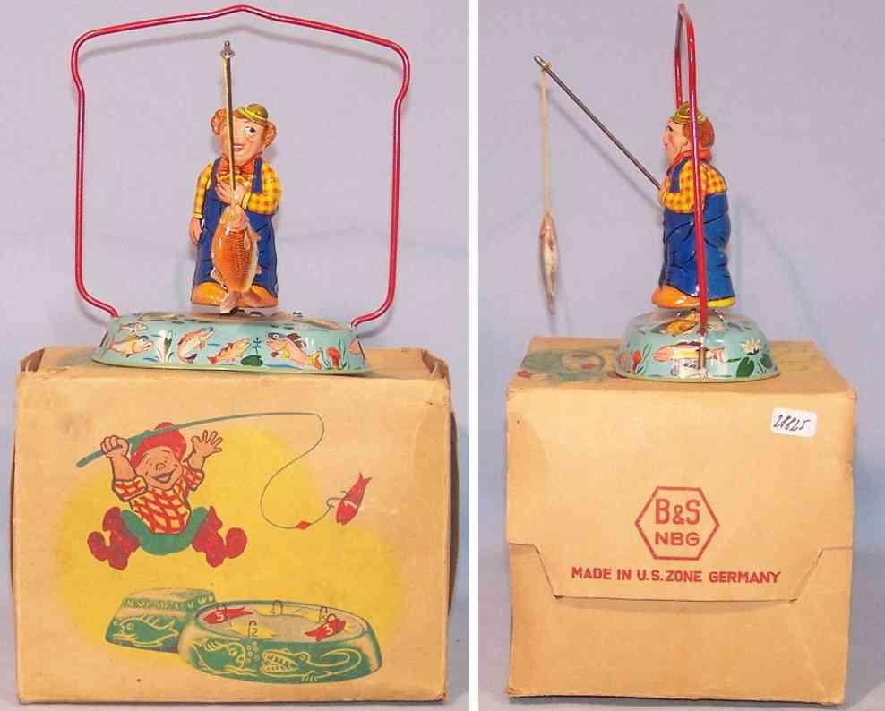 blomer & schuler tin toy angler